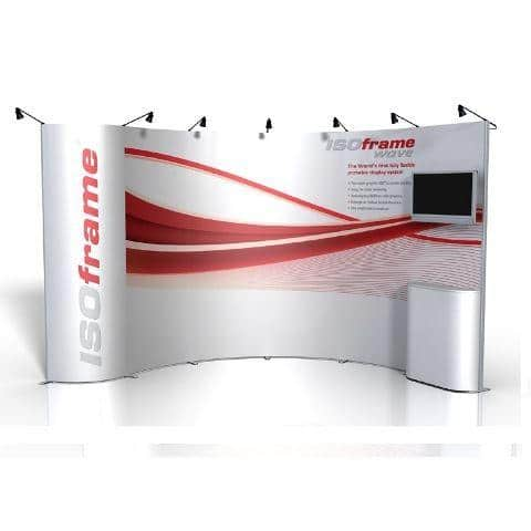 Flexible Exhibition Stands : Exhibition stands flexible with isoframe wave eurotech