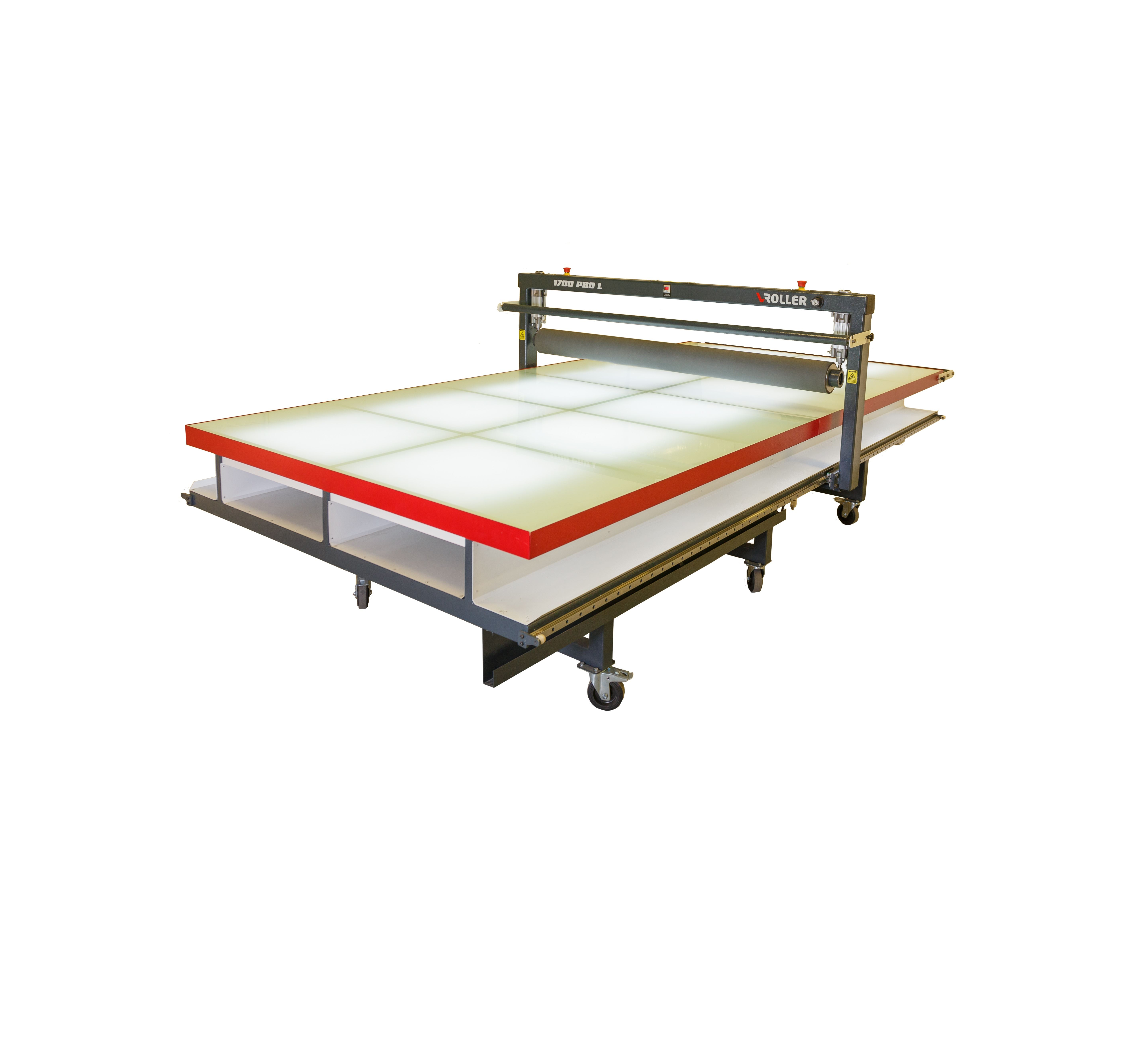 Flatbed laminator pro eurotech for Table exit fly