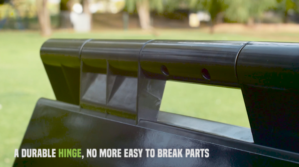 A FRAME durable hinge to carry.