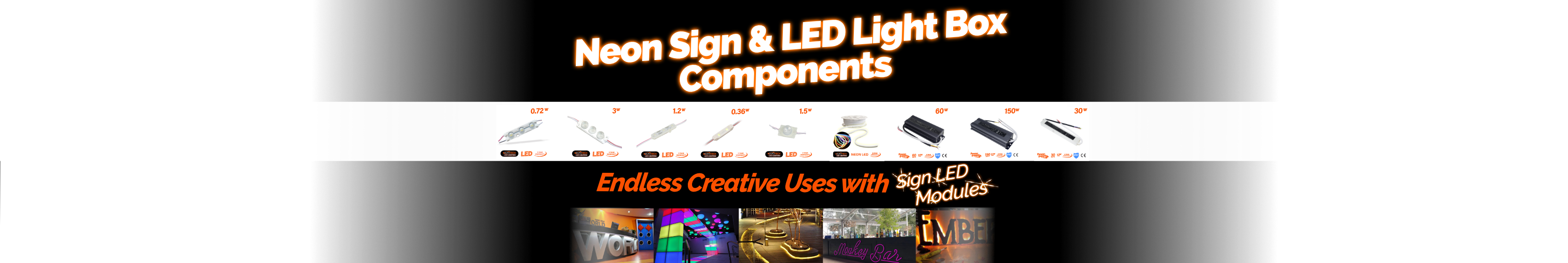 Neon sign led and light box modules